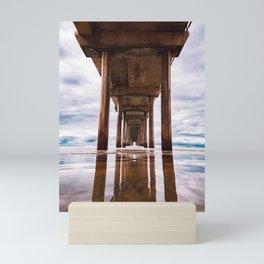 Scripps Pier in San Diego, California Mini Art Print