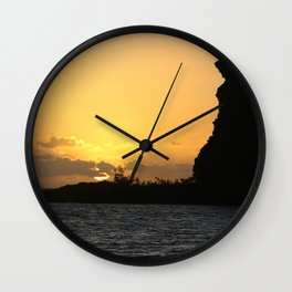 Sunrise at Bear Rock Inarajan Wall Clock
