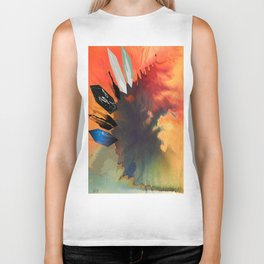 Colour Puddle with Polygon Biker Tank