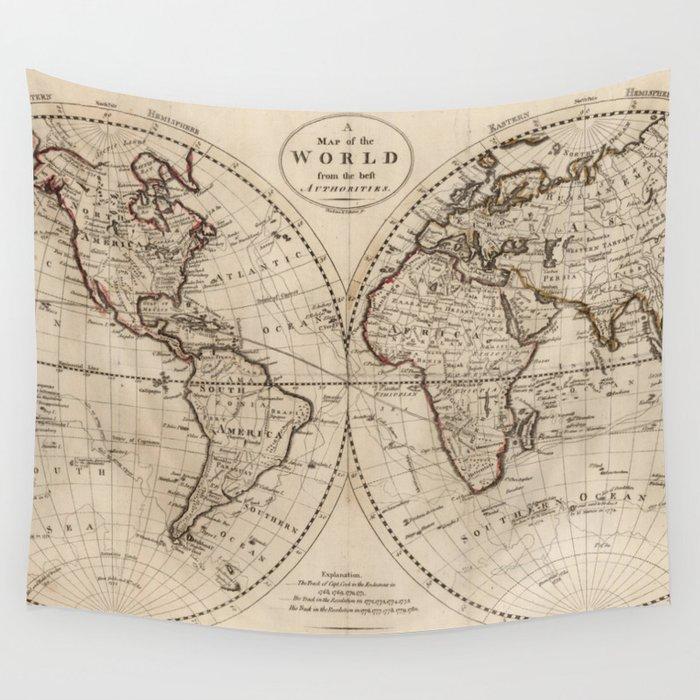 Marvellousvintageworldmapworld map of the world old fashioned world map best shower curtains - Old world map shower curtain ...