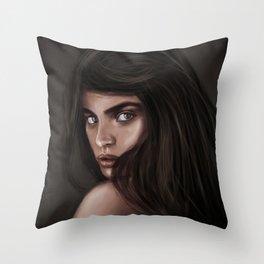 Sara Sampaio Throw Pillow