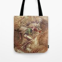 scary Tote Bags featuring Scary Monster by Fabi