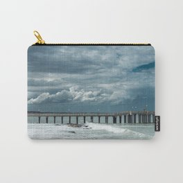 Storm over the pier of Miramar. Carry-All Pouch