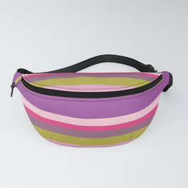 Spring Herbs and Flowers Striped Fanny Pack