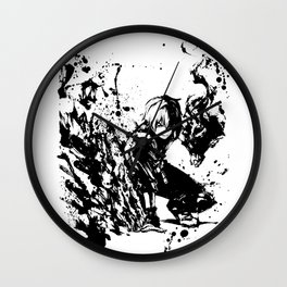 Todoroki Shoto Ink Splatter Wall Clock