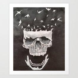 Vampire Skull Art Print