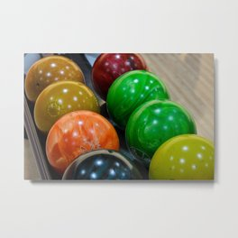Bowling Balls Metal Print