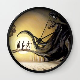The Tale of the Three Brothers Wall Clock