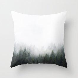 PNW Forest Mountain Adventure IV  Throw Pillow