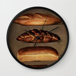 Vintage Bread Wall Clock