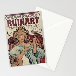 Ruinart Champagne / Alphonse Mucha Stationery Cards
