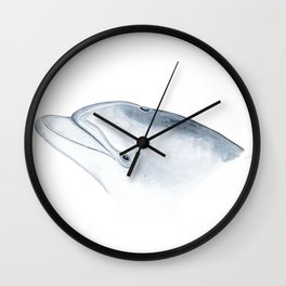 Bottlenose dolphin portrait Wall Clock