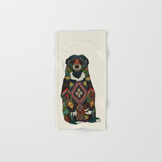 sun bear almond Hand & Bath Towel
