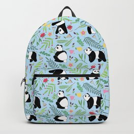 Panda pattern blue Backpack