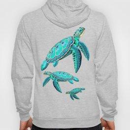 Sea Turtle Turquoise Oceanlife Hoody