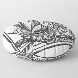 Ship Floor Pillow