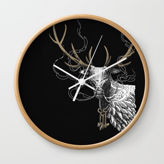 Oh Deer! Light version Wall Clock