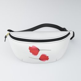 Two red poppies Fanny Pack