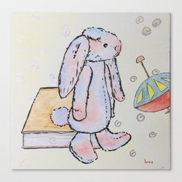 Ronald Rabbit is Always in a Daze Canvas Print