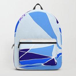 Blue mosaic Abstract artwork Backpack