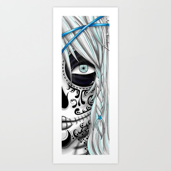 White Sugar Skull Art Print