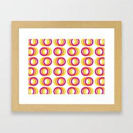 Motion rings Framed Art Print