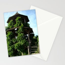 Tower of Green Stationery Cards