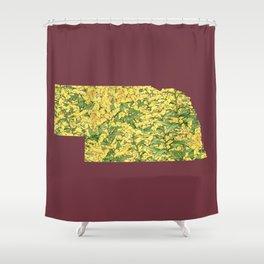 Nebraska in Flowers Shower Curtain