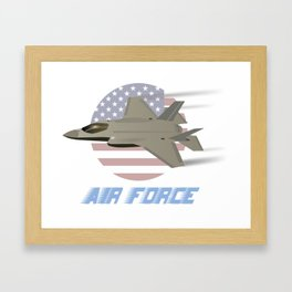 American Air Force F35 Jet Fighter Framed Art Print