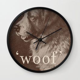 Famous Quotes #1 (anonymous dog, 1941) Wall Clock