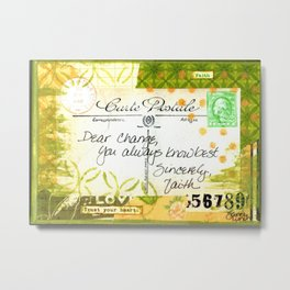 Dear Change Carte Postale Metal Print