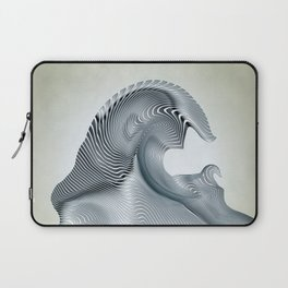 Silver Wave Laptop Sleeve