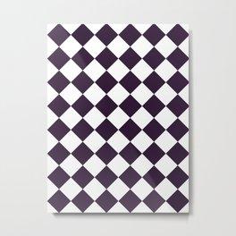Large Diamonds - White and Dark Purple Metal Print