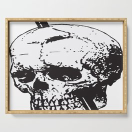 Frontal Lobotomy Skull Of Phineas Gage Vector Isolated Serving Tray