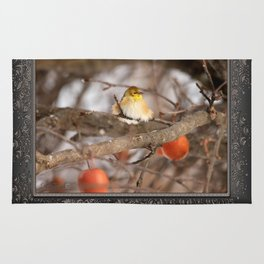 American Goldfinch in Winter Rug