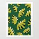 Pretty Clawed Green Leaf Pattern by borianagiormova