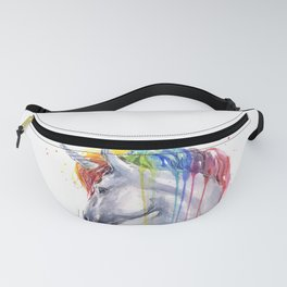 Rainbow Unicorn Watercolor Fanny Pack