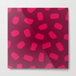 Raspberry Brushstrokes Metal Print