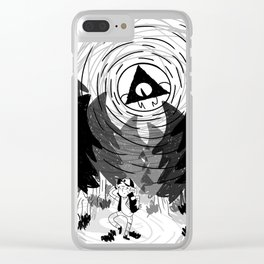 always watching pine tree Clear iPhone Case