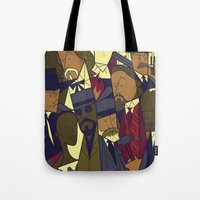 django Tote Bags featuring Django Unchained by Ale Giorgini