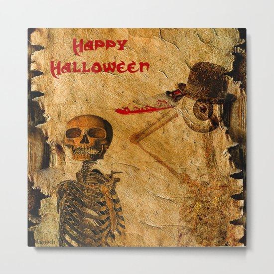 Halloween for Monsieur Bone Metal Print