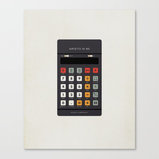 "Vintage Calculator Series: ""Aristo M 85"" Canvas Print"