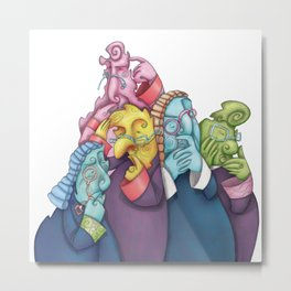 Thoughtful Lawyers Metal Print