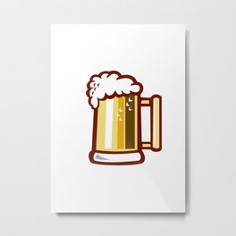 Beer Stein Isolated Retro Metal Print