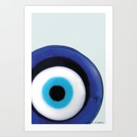 evil eye Art Prints featuring Evil Eye by SalbyN