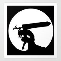berserk Art Prints featuring Gatsu berserk armor by Ednathum