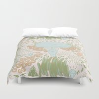 fawn Duvet Covers featuring Fawn by Laura Solitrin
