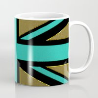 union jack Mugs featuring Glittery Union Jack by Alice Gosling