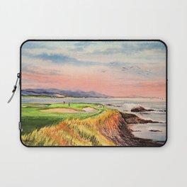 Pebble Beach Golf Course 7th Hole Laptop Sleeve