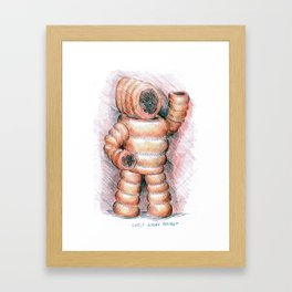 Little Bobby Brisket Framed Art Print